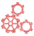 gears fabric textured icon vector image vector image