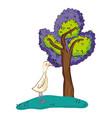 goose wild animal cartoon vector image vector image