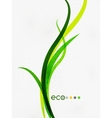 Green eco nature minimal floral concept vector image vector image