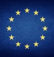 Grunge Flag Of Europe vector image