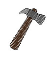 hammer doodle over white background vector image vector image