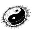 hand drawing of yin yang jin jang symbol vector image