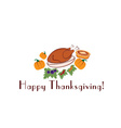 happy thanksgiving with pieturkey and pumpkins vector image