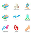 health to flourish icons set isometric style vector image vector image