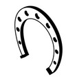 horseshoe icon simple black style vector image vector image