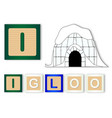 i is for igloo vector image vector image