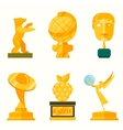 lady statue trophy on white vector image