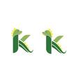 letter k dino cute vector image