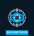 machine vision logo concept vector image vector image