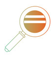 magnifying glass icon in degraded green to red vector image