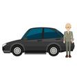 Man and car vector image
