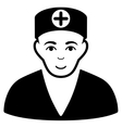 Medic Flat Icon vector image vector image