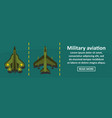 military aviation banner horizontal concept vector image