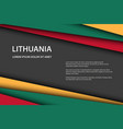modern background with lithuanian colors and grey vector image vector image