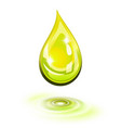 oil drop icon vector image vector image