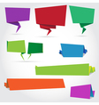 origami speech bubbles and banners vector image vector image