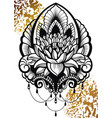 ornamental lotus flower vector image
