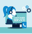 people customer service vector image vector image