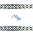 Pixel ethnic border and ornamental frame vector image