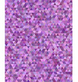 Purple regular triangle mosaic background design vector image vector image