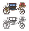 retro carriage for wedding or vintage chariot vector image vector image