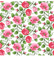 roses pattern vector image vector image