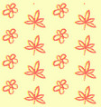 seamless pattern with simple hand drawn leaves vector image vector image