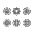 Set of round ornament vector image vector image