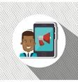 smartphone user design vector image