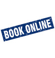 square grunge blue book online stamp vector image vector image