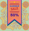 Summer Sale Promotion Flyer vector image vector image