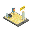 taxi mobile service isometric vector image vector image