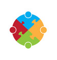 teamwork concept icon vector image