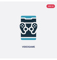 two color videogame icon from mobile app concept vector image vector image