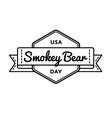 usa smokey bear day greeting emblem vector image vector image