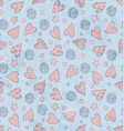 valentines cute pattern vector image vector image