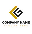 vg gl lg company group logo concept idea vector image