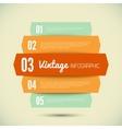 Vintage template for your infographic vector image