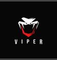viper snake logo letter v logo vector image vector image