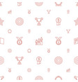 winner icons pattern seamless white background vector image vector image