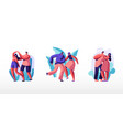 young people dancing on disco party men and women vector image