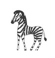 zebra cartoon for children design or print t shirt vector image