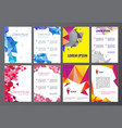 set of flyers brochures abstract design 2 vector image