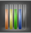 chemical test tube set vector image