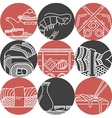 Asian food black and red icons vector image vector image