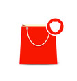 bag buy paper secure shopping icon vector image vector image