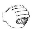 baseball glove isolated icon vector image vector image