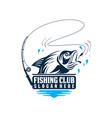 bass fishing emblems and labels fishing vector image vector image