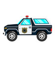 black and white classic police car vector image