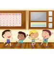 boys in classroom vector image vector image